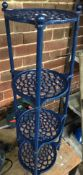 PAINTED 4 TIER METAL PLANT STAND