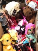 CARTON OF SOFT TOYS & DOLLS ETC