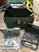 3 CARTONS OF DRILL BITS, SAWS, HACK SAWS ETC