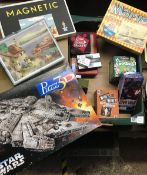CARTON OF GAMES & PUZZLES