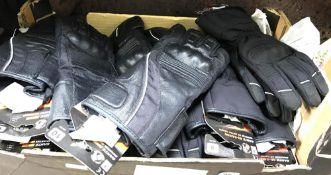 CARTON OF NEW MOTOR CYCLE GLOVES