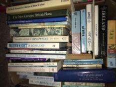 3 CARTONS OF HARDBACK & PAPERBACK BOOKS, GUIDE BOOKS, PAINTERS ETC