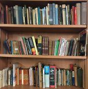 3 & HALF SHELVES OF PAPERBACK & HARDBACK BOOKS, LADYBIRD BOOKS, PENGUIN PAPERBACKS & OTHERS