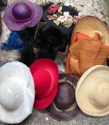 BAG OF LADIES HATS & FEATHER BOAS