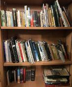 3 SHELVES OF HARDBACK & PAPERBACK BOOKS INCL; TRAVEL, ART ETC