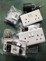 CARTON OF ELECTRICAL SOCKETS