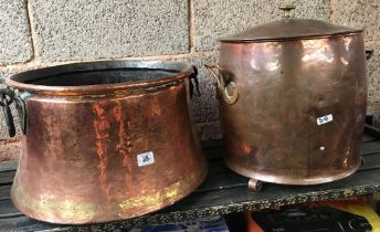 2 COPPER COAL OR LOG BUCKETS