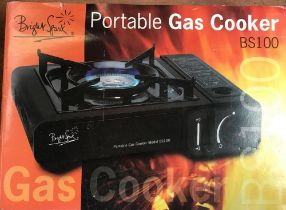 BOXED PORTABLE GAS COOKER BS100 NEW IN BOX