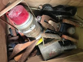 CARTON OF VARIOUS VINTAGE TOOLS