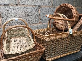 QTY OF WICKER BASKETS