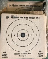 VINTAGE WEBLEY SLUG CATCHER WITH TARGETS