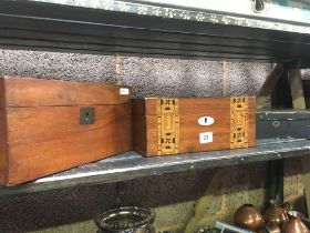 COLLECTION OF 3 VINTAGE WOODEN BOXES A/F