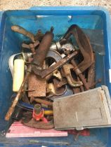 CARTON OF G-CLAMPS & OTHER TOOLS