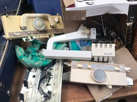 BOX WITH A BROTHER KH940 KNITTING MACHINE NOT KNOWN IF WORKING OR COMPLETE