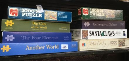 8 MISC JIGSAW PUZZLES