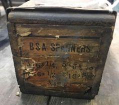 SET OF BSA SPANNERS IN ORIGINAL BOX