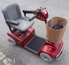 RED SHOP RIDER MOBILITY SCOOTER