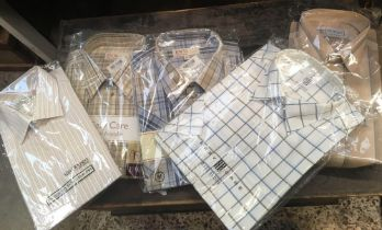 MEN'S SHIRTS, MEDIUM SIZE, NEW IN PACKETS