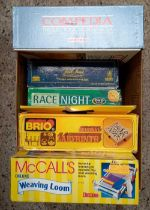 2 CARTONS OF GAMES/TOYS INCL; VINTAGE