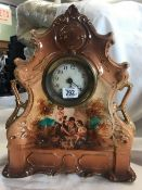 FRENCH STYLE PORCELAIN MANTLE CLOCK