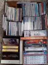 CARTON OF MISC CD'S & DVD'S