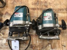 (2) Makita 3612BR Plunge Routers