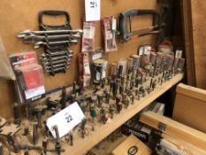 Large Quantity of Router Tool Bits