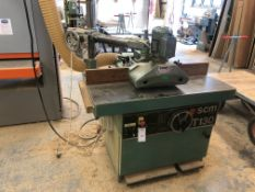 SCM T130N Spindle Moulder with Steff 38 Power Feed Unit