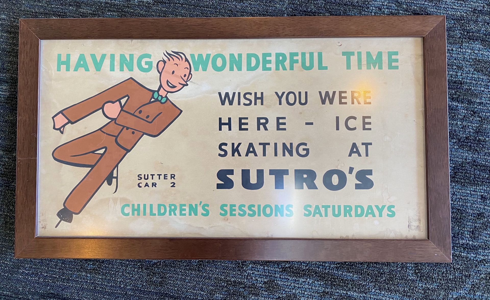 """""""Having Wonderful Time - Wish You Were Here"""" - Sutro's Baths Poster"""