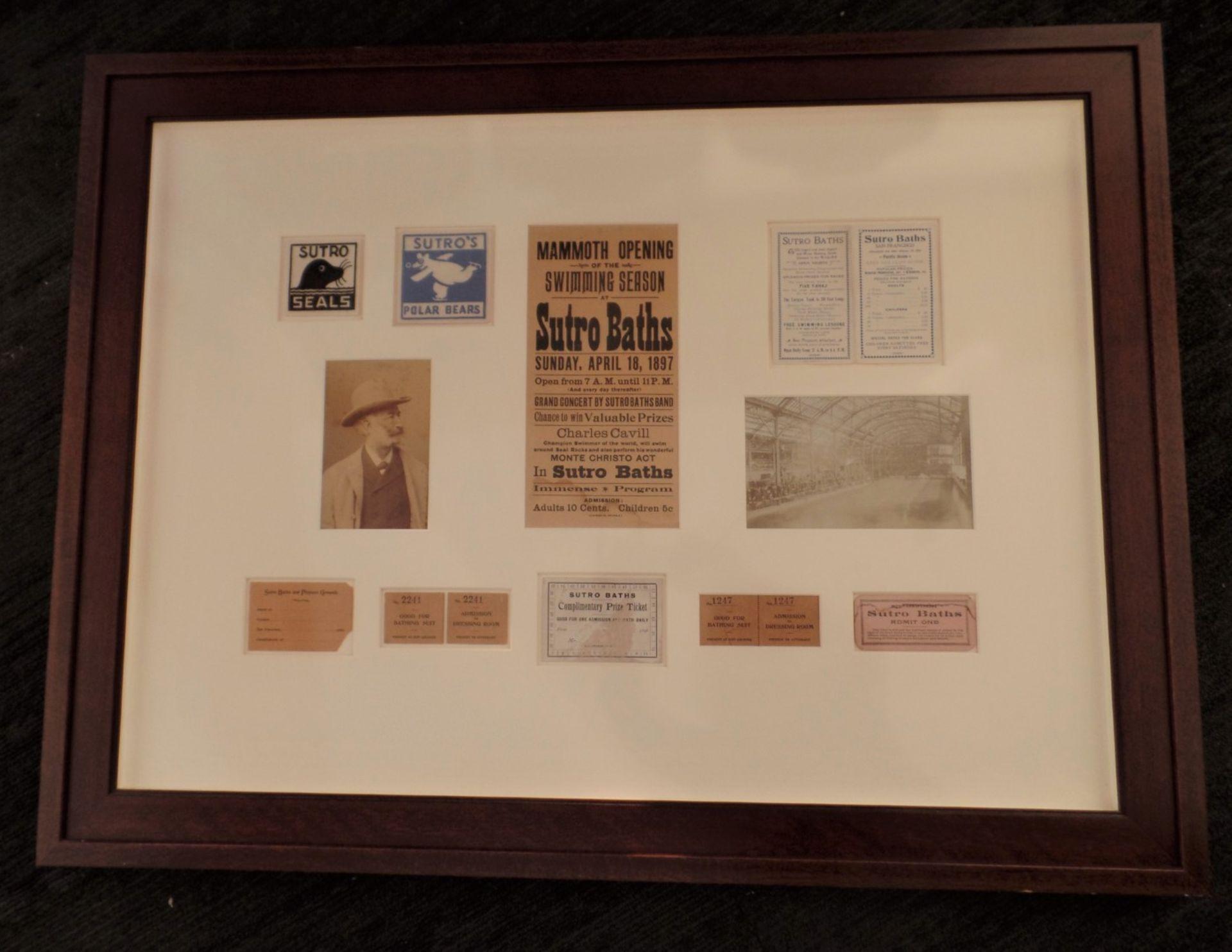 Framed Sutro Baths - Framed Mementos
