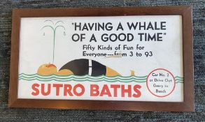 """Having a Whale of a Good Time"" Sutro Baths Poster"