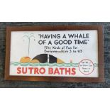 """""""Having a Whale of a Good Time"""" Sutro Baths Poster"""