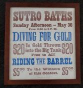 Framed Poster - Sutro Baths