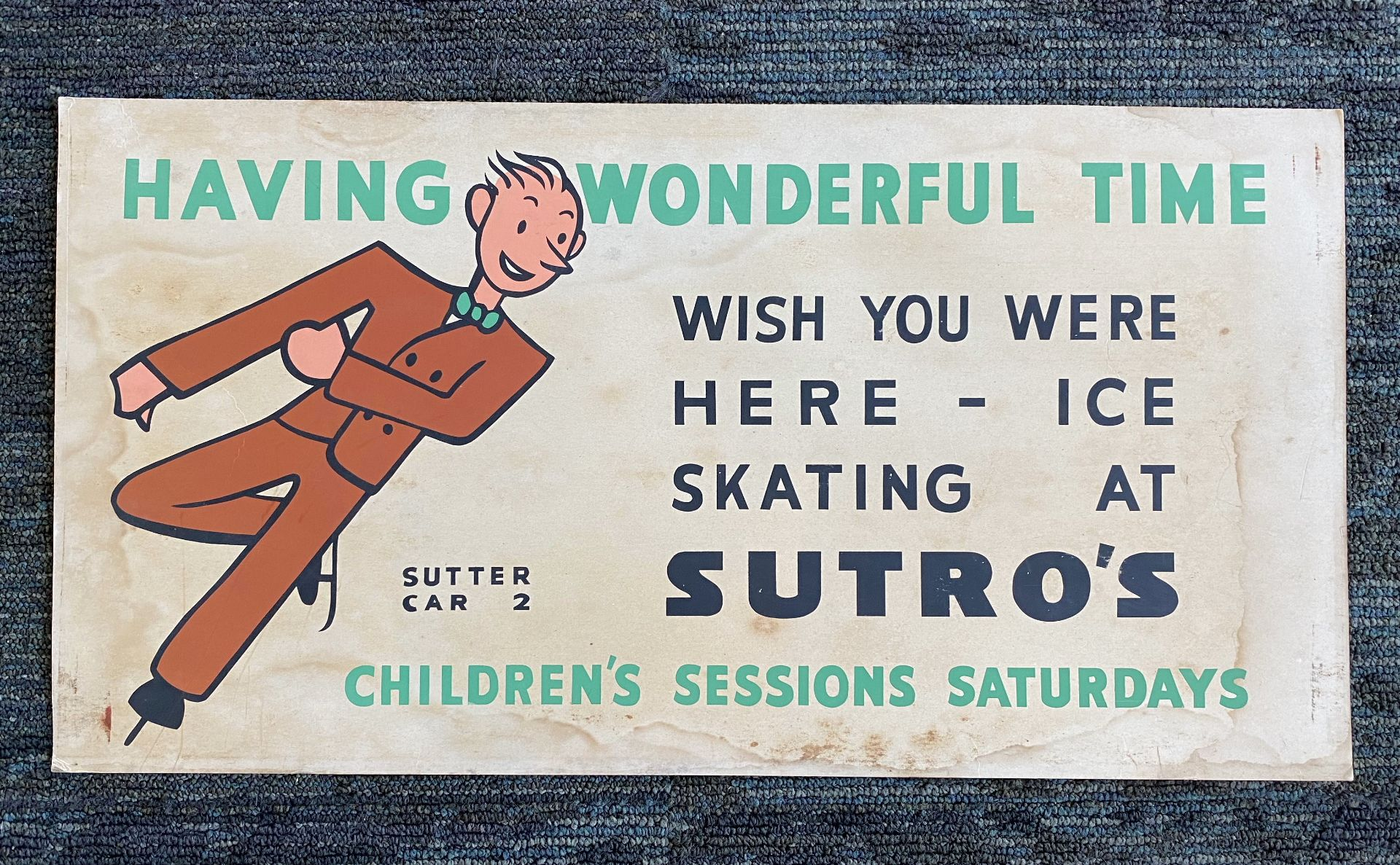 Having Wonderful Time - Wish You Were Here - Sutro's Baths Poster