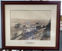 Framed Photo - Third Cliff House with Pres Taft Motorcade