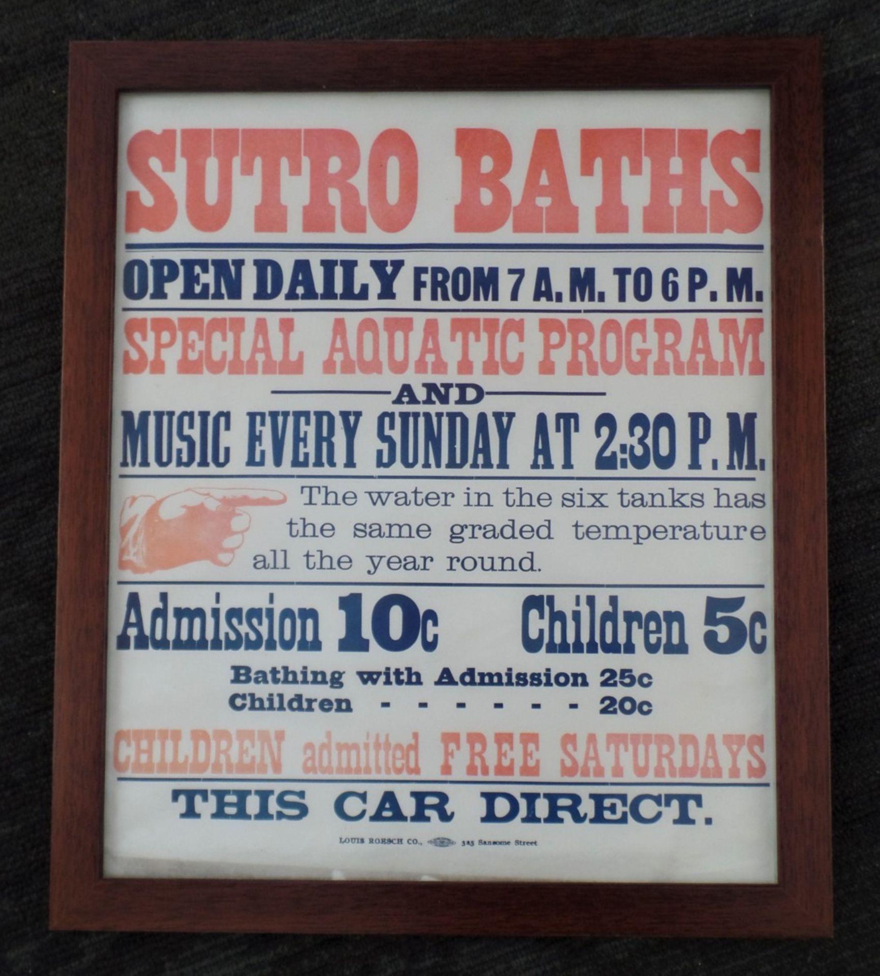 Framed Poster - Sutro Baths