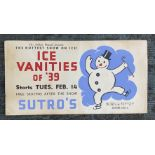 Poster - Sutros Ice Skating - Ice Vanities (Snow Man)