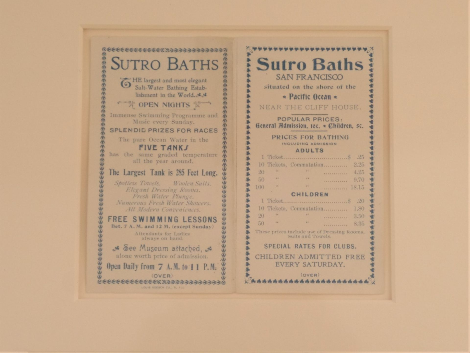 Framed Sutro Baths - Framed Mementos - Image 2 of 8