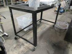 Mobile Metal Table
