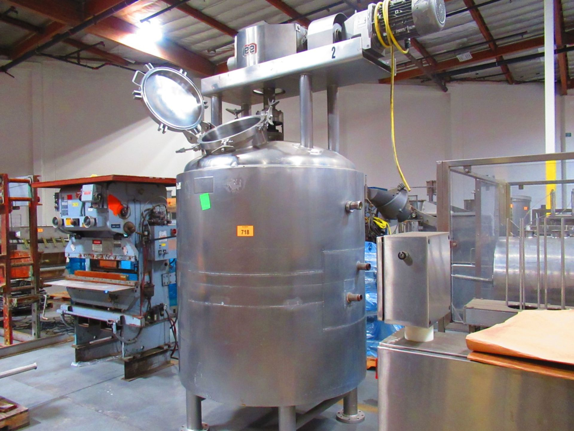 Jacketed Mix Tank - Image 2 of 7