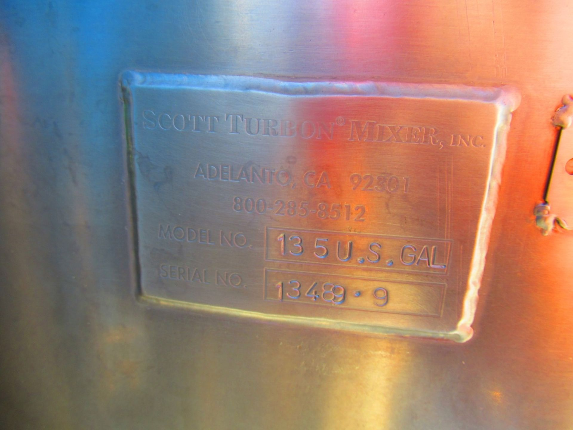 135 US Gal Stainless Tank - Image 3 of 3