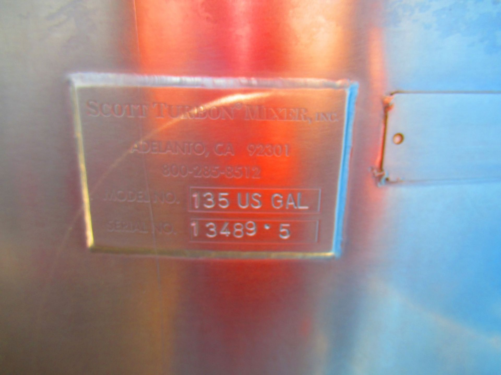 135 US Gal Stainless Tank - Image 4 of 4