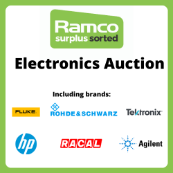 Ramco Electronics Auction - Brands Include - Marconi, Farnell, Fluke, Rohde & Schwarz, RACAL, Hewlett Packard, Tektronix, Agilent