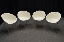 4x Plastic Tub Chairs