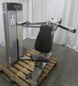 Life Fitness Model CS Frame Box Shoulder Press.