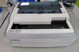 Siemens Hematek 3000 Semiautomated Slide Staining Analyzer.