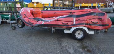 Avon ERB 400 Pro Inflatable Boat on Bramber Trailer