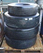4x HGV Tyres (various sizes)