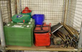 Domestic equipment - Mop Bucket, Rods, Empty Cases, Tools