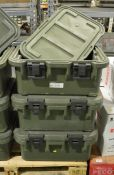 3x Cambro transit case - missing containers